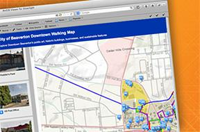 Beaverton walking map