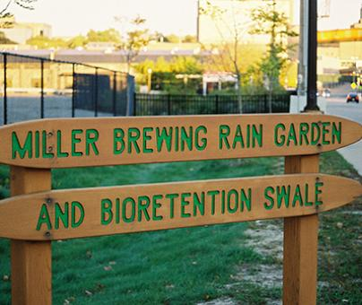 Large-Scale Brewery Rain Garden/Biorentention Swale