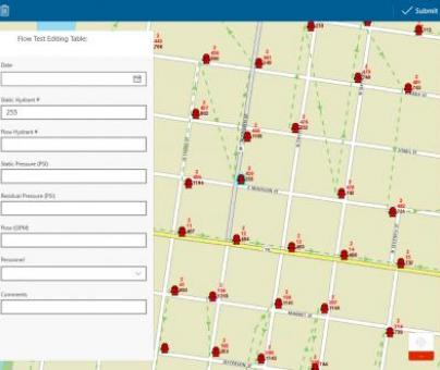 City of Watertown Hydrant Flushing Mobile GIS
